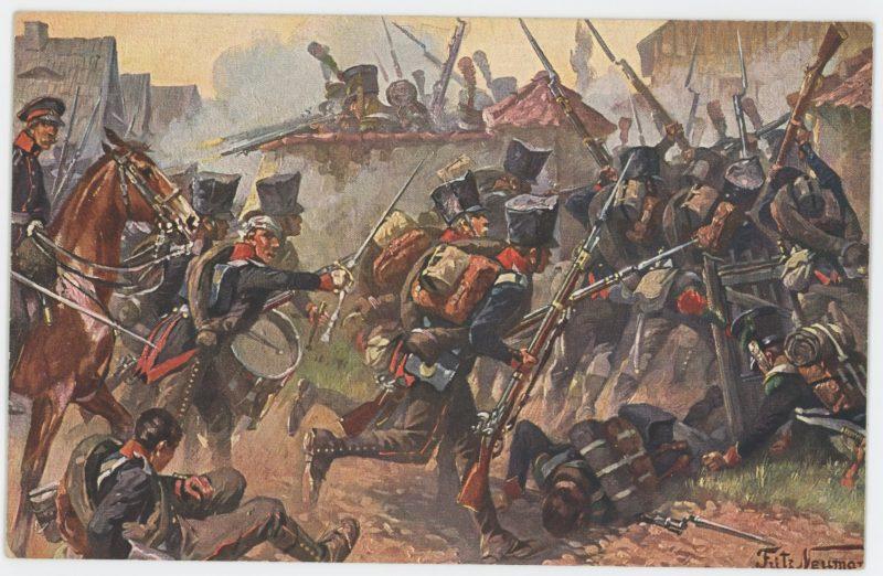 Lot 10 Cartes Postales Illustrées - Fritz Neumann - Edition E.G.M.S. - Berferiungskriege 1813/1814 - Bataille de la Moskova 1812 - Uniforme
