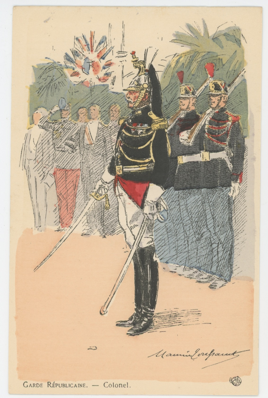 Série Complète - 12 Cartes Postales Illustrées - Maurice Toussaint - Edition Pierre Plument - La Garde Républicaine - Uniforme - Troisième République