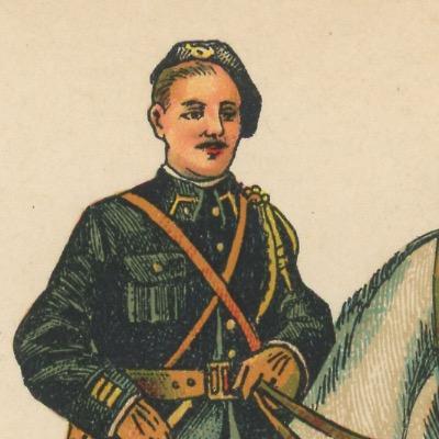 52 Petits Soldats Papier - Chasseur Alpin 1916/1918 - Planche Pro Francia - Uniforme - Guerre 14/18 - jeu