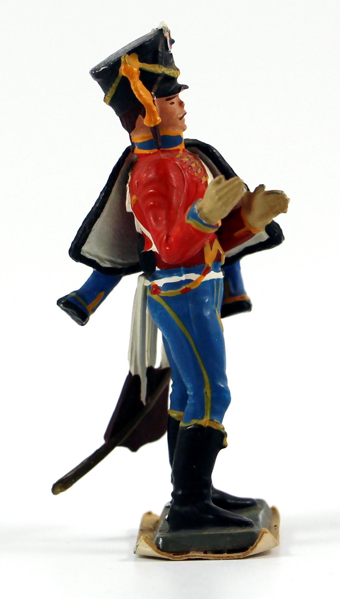 Figurine Starlux 1er Empire - Hussard - Cavalier - Plastique - 9ème Régiment