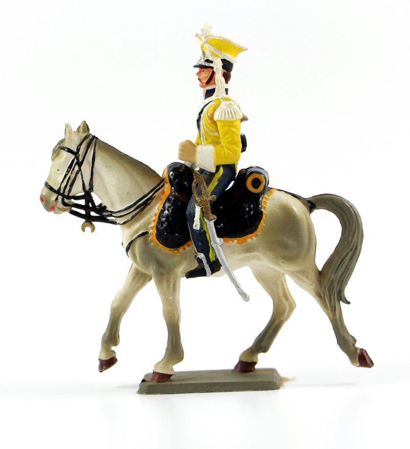 Figurine Starlux 1er Empire - Lancier de la vistule 1808 - Trompette - Cavalier - Plastique