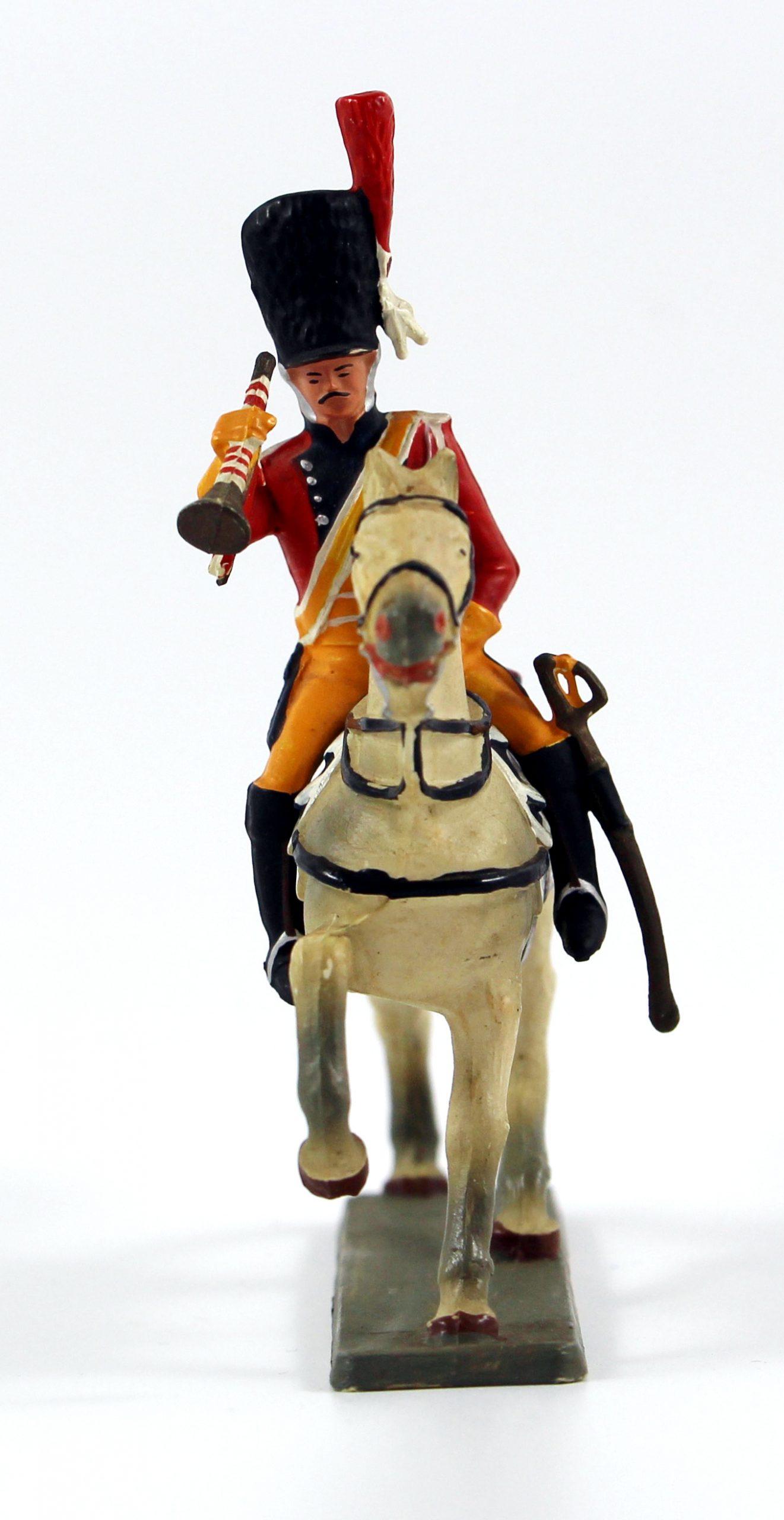 Figurine Starlux 1er Empire - Gendarme de la Garde - Trompette - Cavalier - Plastique