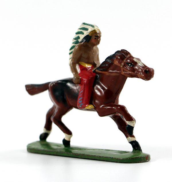 Figurine Quiralu ancienne Indien Plume Cavalier