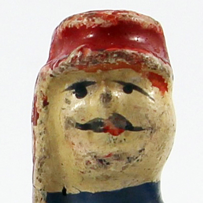 4 Anciennes Figurines Bon Dufour en composition - Chausseur à Cheval - Soldats - Uniforme - 3ème République