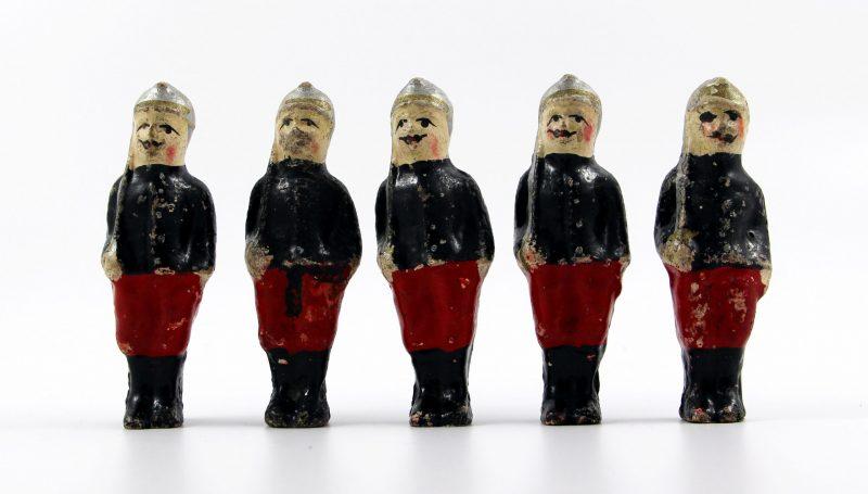 5 Anciennes Figurines Bon Dufour en composition - Dragons à Cheval - Soldats - Uniforme - 3ème République