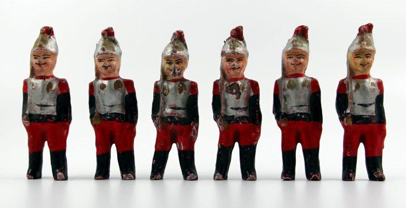 6 Anciennes Figurines Bon Dufour en composition - Cuirassiers - Soldats - Uniforme - 3ème République