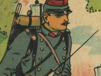 Jeu de loto - Loto des Uniformes - Armée Europe - XIX - 10 Plaquettes de jeu - Chromolithographie - Uniforme et Pays - Jeu Enfants - Guerre 14/18