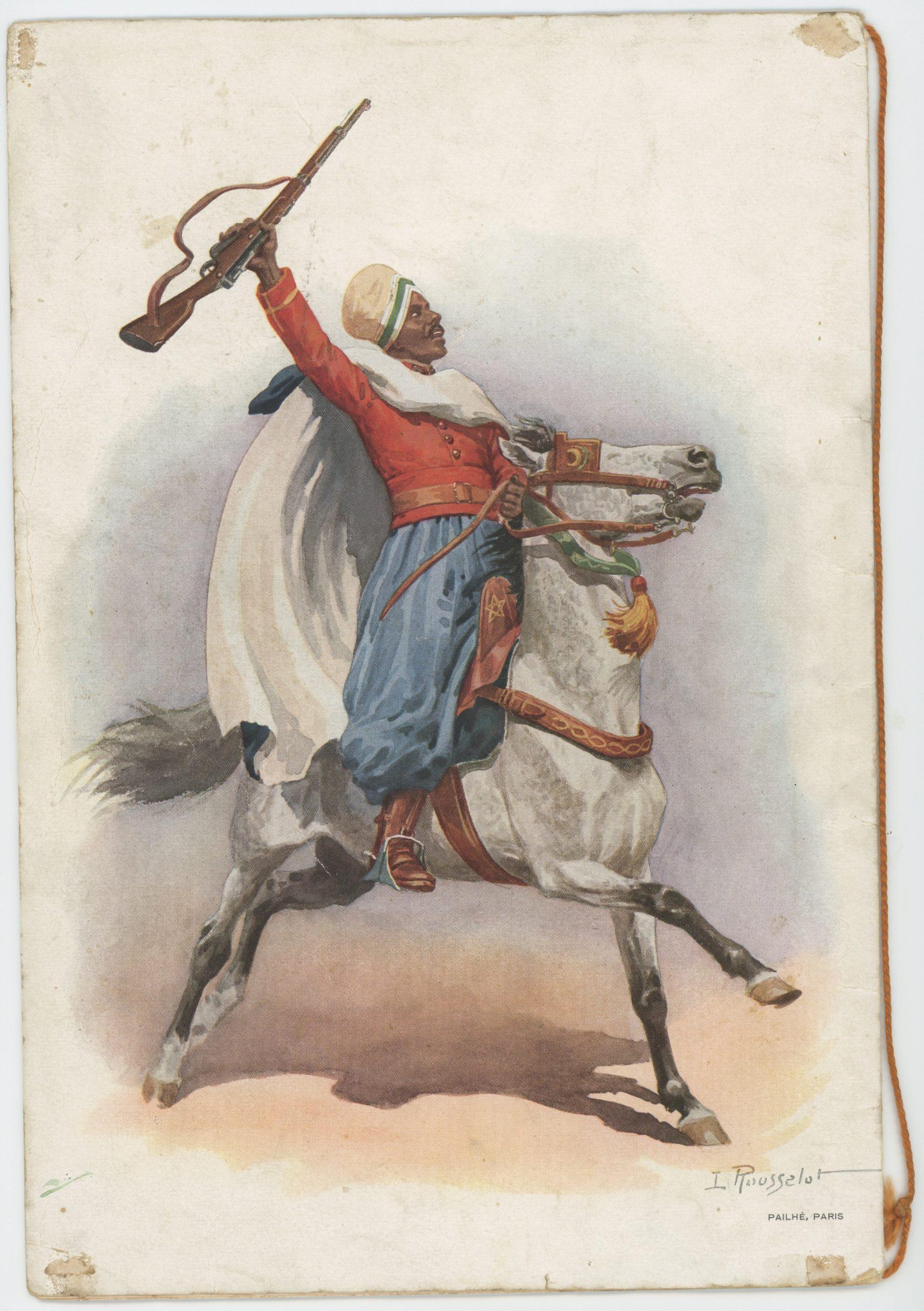 Programme Concours Hippique de Paris 1936 - Société Hippique Française - Cheval de Guerre - Illustration Lucien Rousselot - Hussard - Spahis