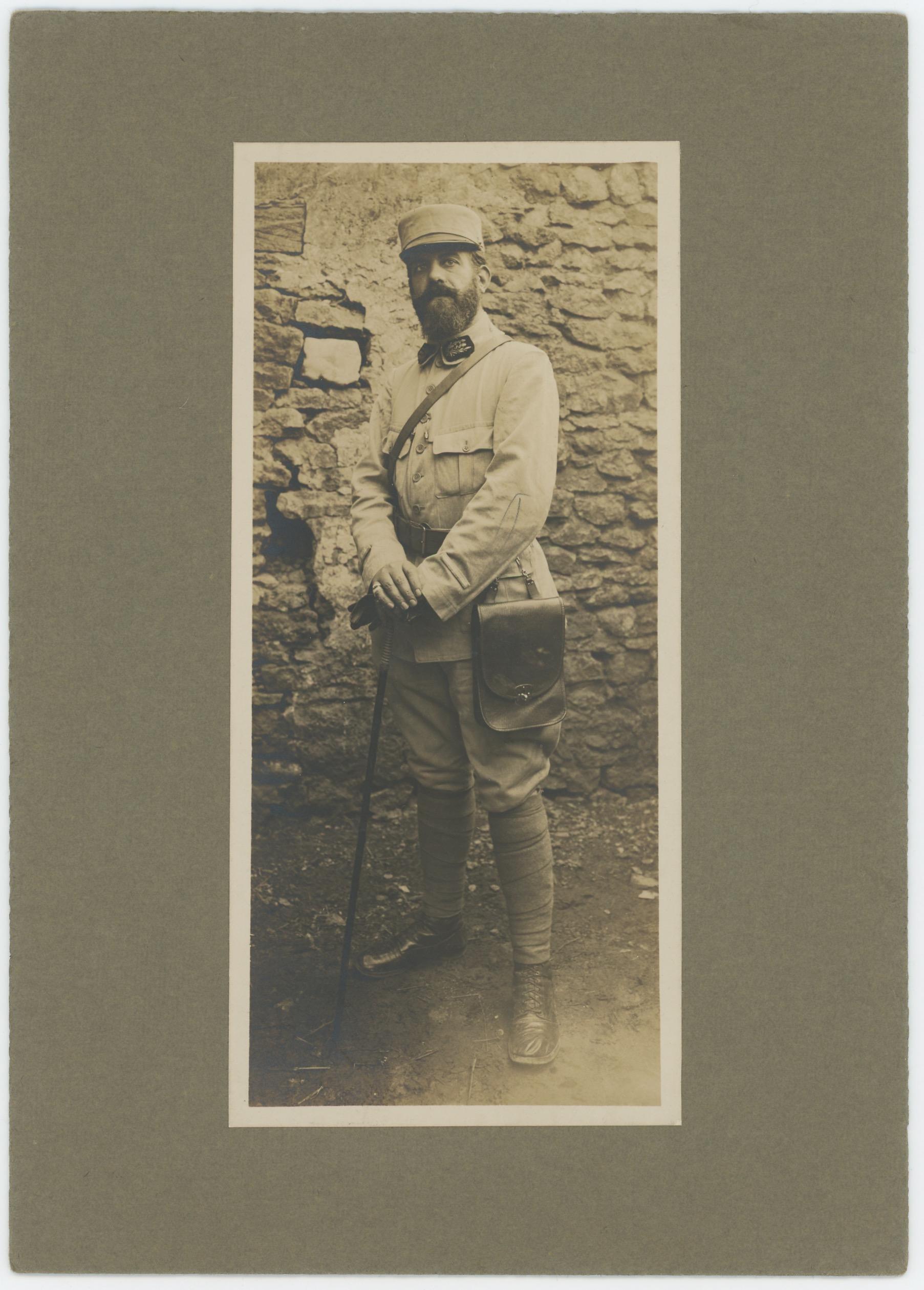 Ancienne Photographie - Guerre 14/18 - Armée Française - Médecin - Uniforme - Front - Poilu - Grande Guerre