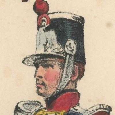 Gravure XIX - Martinet - L'armée française - Uniforme -Soldat - Monarchie de Juillet - 1830 et 1848 - Garde Nationale Chasseur