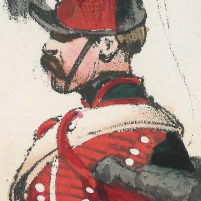 Gravure XIX - Martinet - L'armée française - Uniforme -Soldat - Monarchie de Juillet - 1830 et 1848 - Hussards 6 régiment