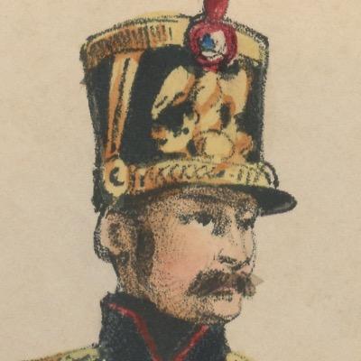 Gravure XIX - Martinet - L'armée française - Uniforme -Soldat - Monarchie de Juillet - 1830 et 1848 - Garde de Paris