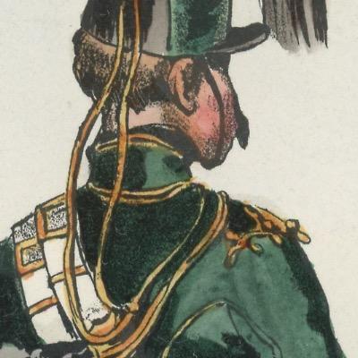 Gravure XIX - Martinet - L'armée française - Uniforme -Soldat - Monarchie de Juillet - 1830 et 1848 - Hussards 7 régiment