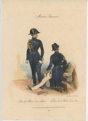 Gravure XIX - Martinet - L'armée française - Uniforme -Soldat - Monarchie de Juillet - 1830 et 1848 - Marine Française