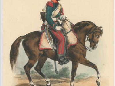 Gravure XIX - Martinet - L'armée française - Uniforme -Soldat - Monarchie de Juillet - 1830 et 1848 - Chasseur à Cheval