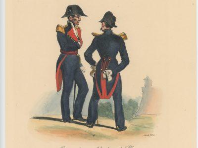 Gravure XIX - Martinet - L'armée française - Uniforme -Soldat - Monarchie de Juillet - 1830 et 1848 - Commandant de Place