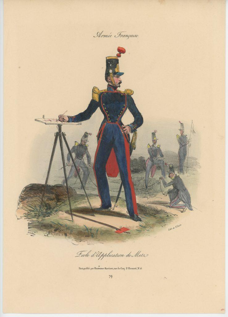 Gravure XIX - Martinet - L'armée française - Uniforme -Soldat - Monarchie de Juillet - 1830 et 1848 - Ecole Application de Metz