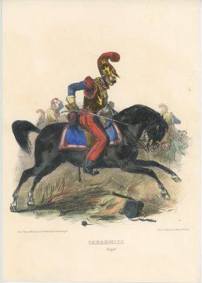Gravure XIX - Martinet - L'armée française - Uniforme -Soldat - Monarchie de Juillet - 1830 et 1848 - Carabiniers