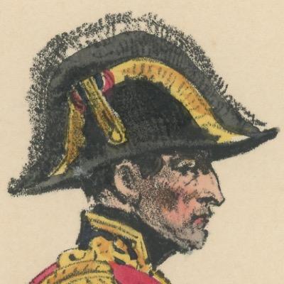 Gravure XIX - Martinet - L'armée française - Uniforme -Soldat - Monarchie de Juillet - 1830 et 1848 - Maréchal de France