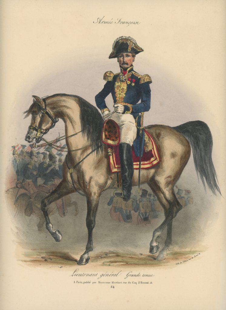 Gravure XIX - Martinet - L'armée française - Uniforme -Soldat - Monarchie de Juillet - 1830 et 1848 - Lieutenant Général
