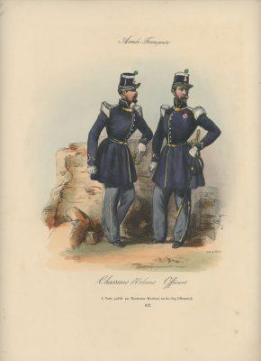 Gravure XIX - Martinet - L'armée française - Uniforme -Soldat - Monarchie de Juillet - 1830 et 1848 - Chausseur D'Orléans