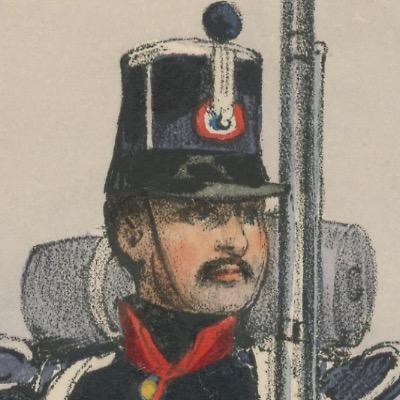 Gravure XIX - Martinet - L'armée française - Uniforme -Soldat - Monarchie de Juillet - 1830 et 1848 - Infanterie de Ligne Fusilier