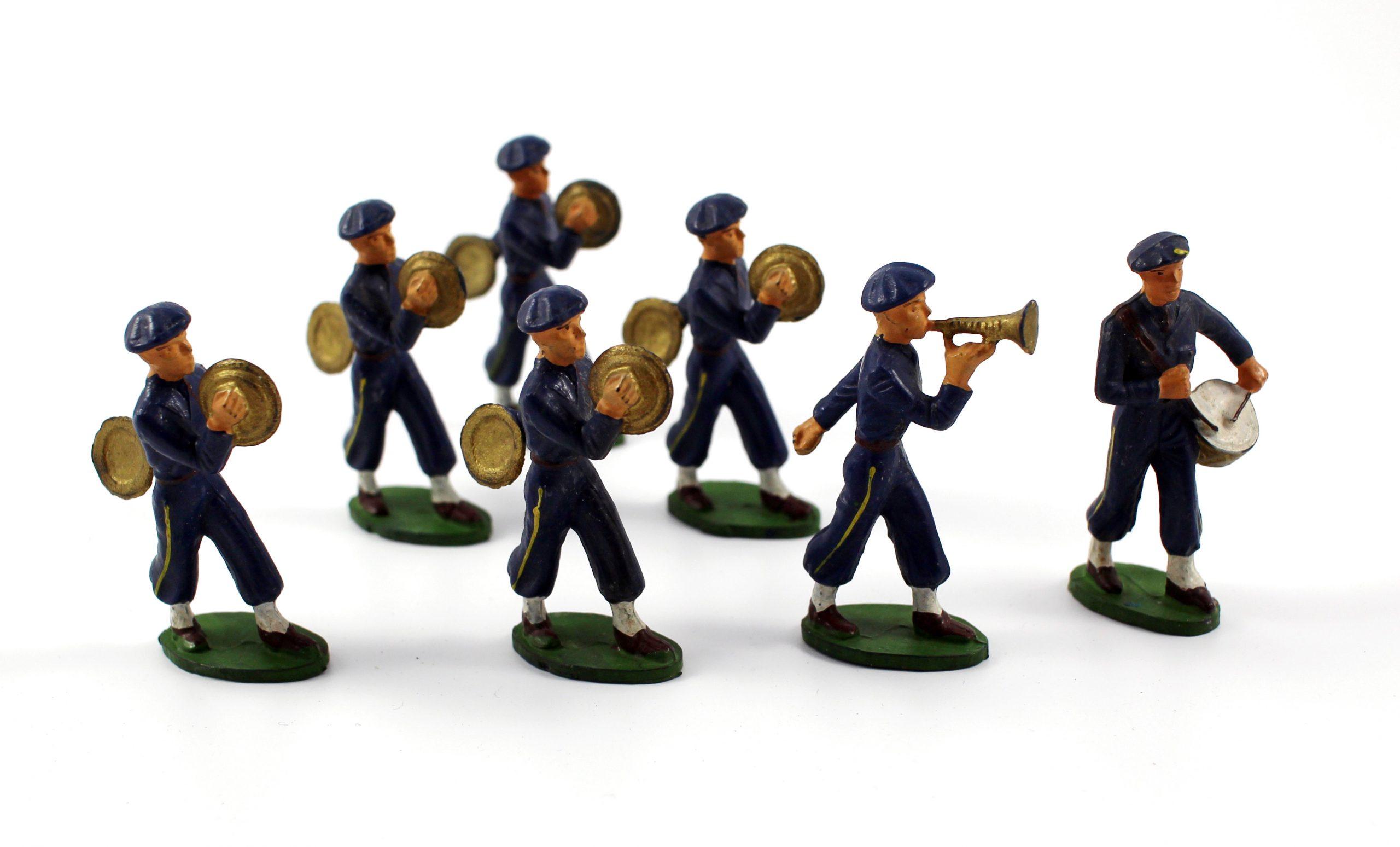Figurines Starlux anciennes 7 Chasseurs à Pied fanfare