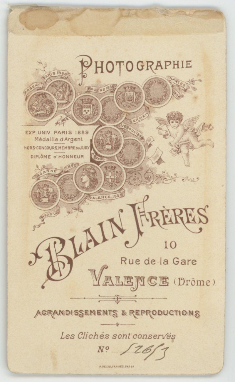 CDV - Ancienne Photographie - 3ème République - 1er Hussards - Valence - 1904
