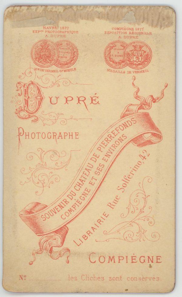CDV - Ancienne Photographie - 3ème République - 13ème Dragons - Casque - Compiègne