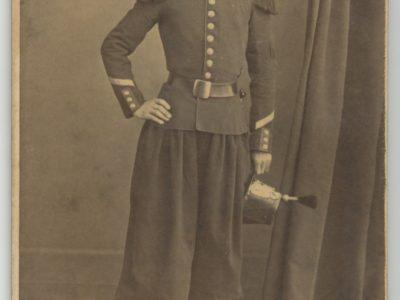 CDV Soldat Français - Infanterie - Uniforme - 2nd empire - Sabre - Shako