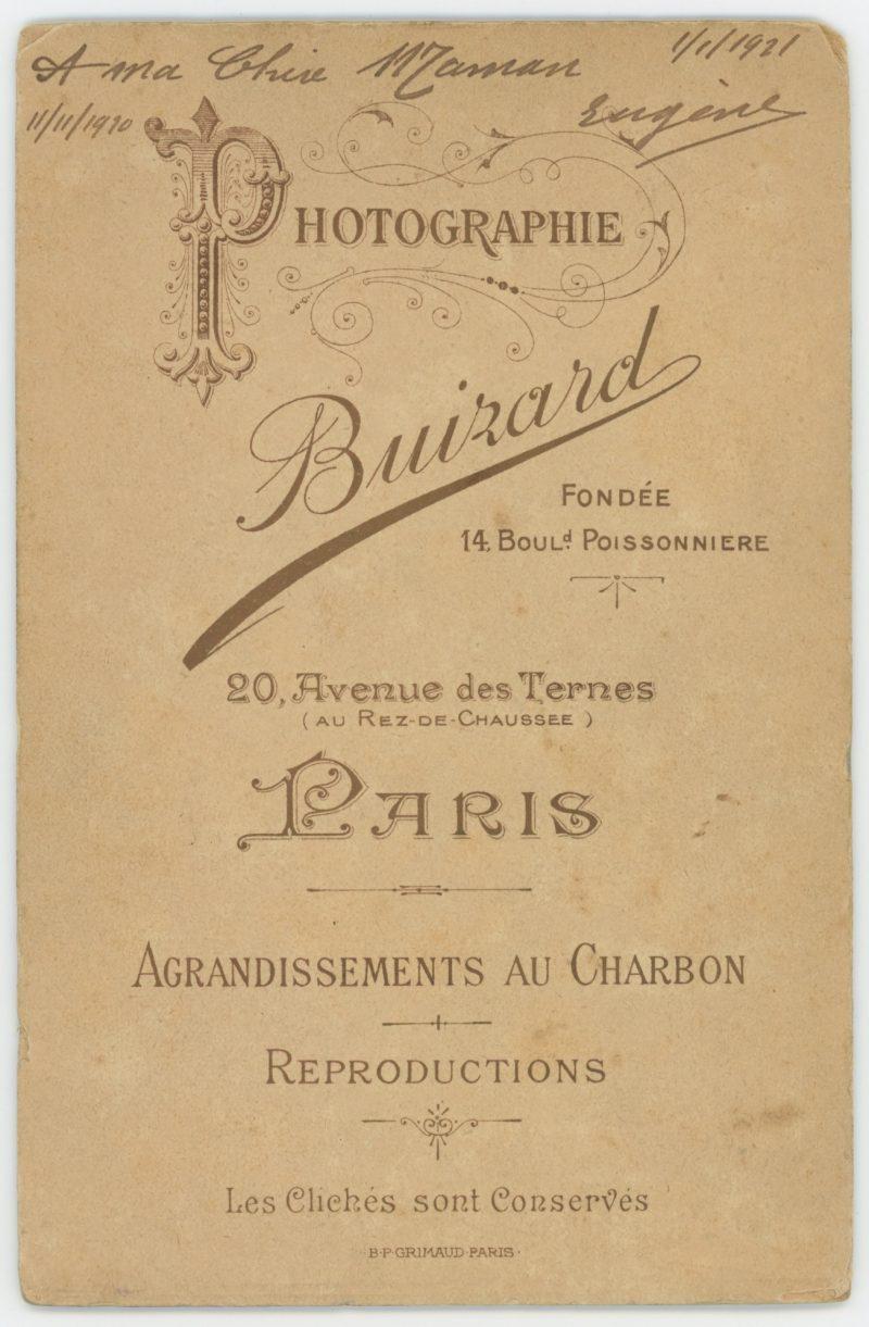 Grande CDV Soldat Français - Infanterie - Uniforme - Guerre 14/18 - Croix de la légion d'honneur - Décoration - Paris 1920 / 1921