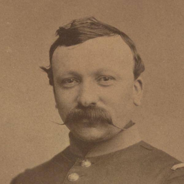 Photo Albuminée - Soldat Portrait - Second Empire - Uniforme - Napoléon III - Képi - Bouton