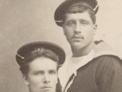 Grande CDV - Matelot de la Marine - Soldat - Français - 1885 - Uniforme de la Marine Française - Photographe Ch.Allevy Paris - Aviso Parseval