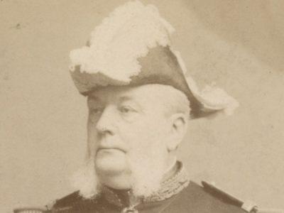 Grande CDV - Officier de la Marine - Soldat - Français - Amiral Bienaimé - 1895 - Uniforme - Marine Française - Pierre Petit Paris